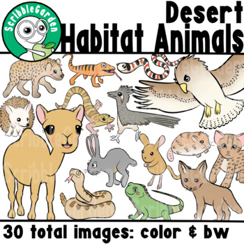 Habitat Animals: Deserts of the World ClipArt