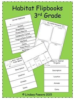 Habitat Flipbooks for 3rd Grade