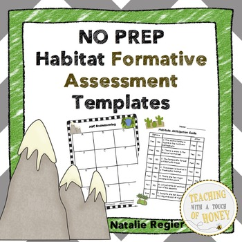 Habitat Formative Assessment: NO PREP Templates