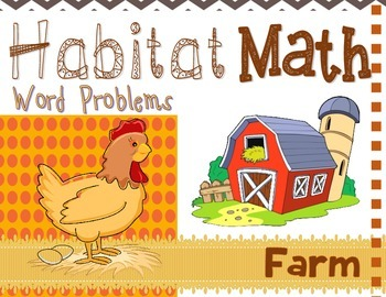 "Addition: ""Habitat Math"" Differentiated Interactive Word P"