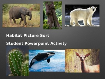 Habitat Picture Sort: Science Powerpoint Activity
