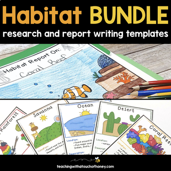 Habitat Report Writing and Trading Cards Bundle