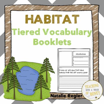 Habitat Tiered Vocabulary Booklets