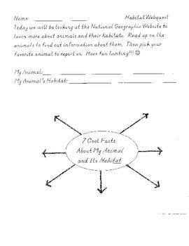 Habitat Webquest