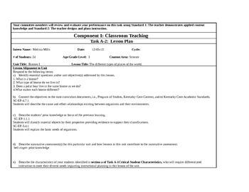Habitat lesson plan 3rd grade KTIP A2
