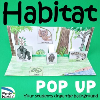 Habitat of Animals Pop-up Craft Activities - 7 Animal Habi