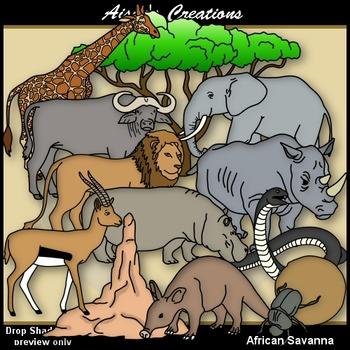 African Animals & Savanna