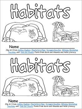 Habitats Emergent Reader for Kindergarten Science