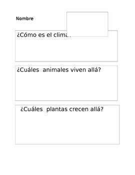 Habitats Graphic Organizer (Spanish)