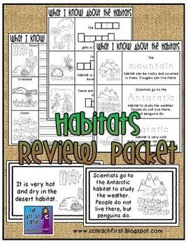 Habitats Review Packet