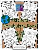Habitats Vocabulary Book