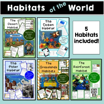 Habitats of the World Bundle- Common Core Aligned with Cra