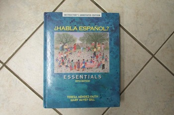 Habla espanol? Essentials - 5th edtition Instructor's anno