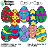 Hadasa Designs: Easter Eggs Clip Art - MINI COMBO Pack