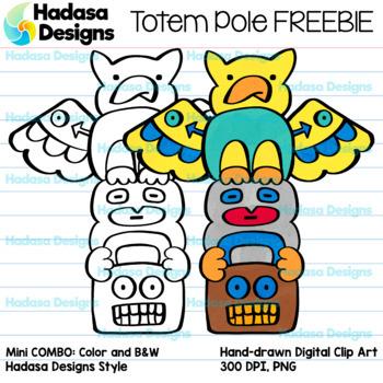 Hadasa Designs: Totem Pole Clip Art FREEBIE