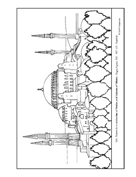 Hagia Sophia.  Coloring page and lesson plan ideas