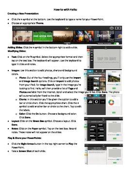 "Haiku App - ""How-to"" Sheet"