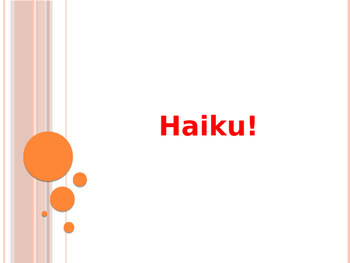Haiku Introduction Powerpoint