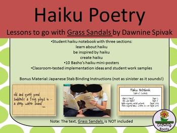 Haiku Poetry Instruction using Grass Sandals by Dawnine Spivak