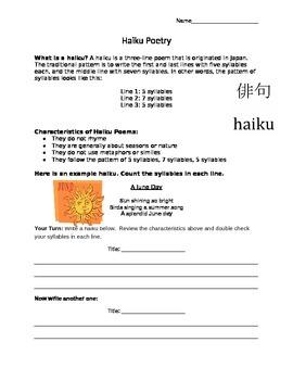 Haiku Poetry: Teaching Kids about Haikus and Syllables