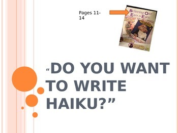 Haiku Powerpoint- Based on Informational Text