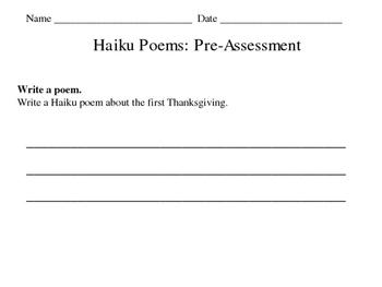 Haiku Unit Worksheets