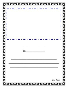 Haiku Writing Template
