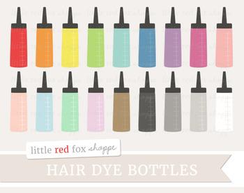 Hair Dye Bottle Clipart; Hair, Beauty