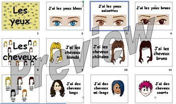 Hair and eye colour presentation