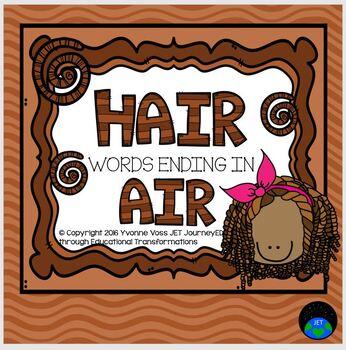 Hair words ending in AIR Literacy Station