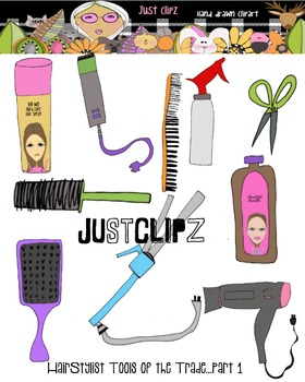 HairStylist tools clip art