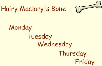Hairy McClary's Bone Guided Reading Weekly Lesson Plan Fou