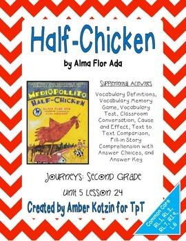 Half-Chicken Supplemental Activities 2nd Grade Journeys Un