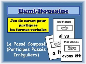French Passé Composé (Irregular Past Participles) Card Gam