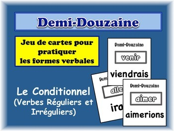 French Conditional (Regular & Irregular) Card Game, Half Dozen