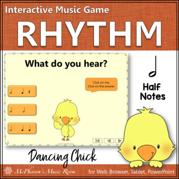 Half Notes Interactive Music Game {Dancing Chick}