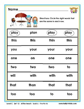 Half-Pint Kids Books Printables for Beginning Readers Set