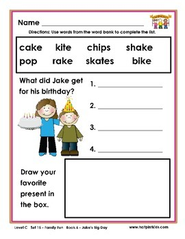 Half-Pint Kids Printables for Beginning Readers Set 15 Boo