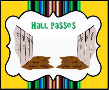 Hall Pass (Clinic/Nurse Pass and Late Pass)