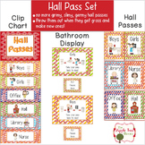 Hall Pass Set {Editable} Clip Chart, Passes and Bathroom Display