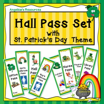 St. Patrick's Day Hall Pass Set