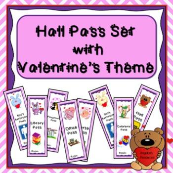 Valentine's Hall Pass Set