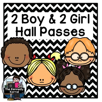 Hall Passes {2 Boy and 2 Girl}