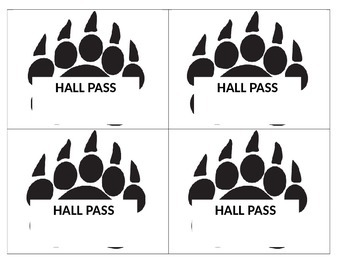 Hall Passes - Blue Bear Paw