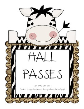 Hall Passes - Jungle Theme