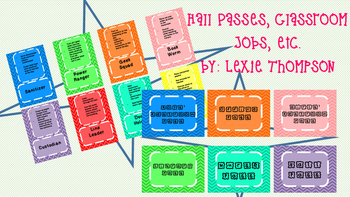 Hall Passes and Classroom Jobs