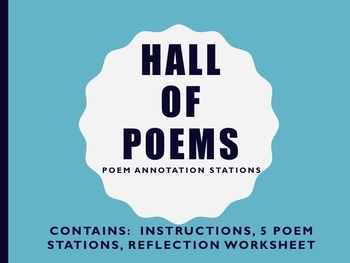 Harlem Renaissance: Hall of Poems:  Poetry Literary Device