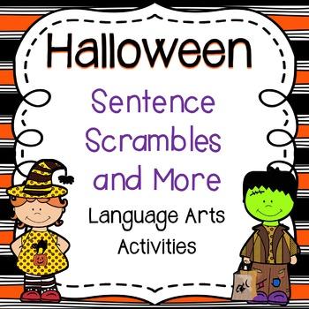 Halloween Sentence Scrambles and More