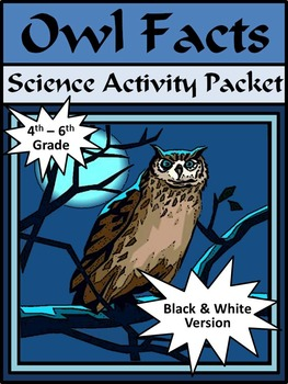 Halloween Reading Activities: Owl Facts Activity Packet 4t