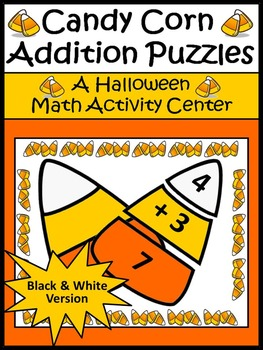 Halloween Math Activities: Candy Corn Addtion Puzzles Hall